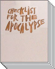 Checklist for the Apocalypse book image